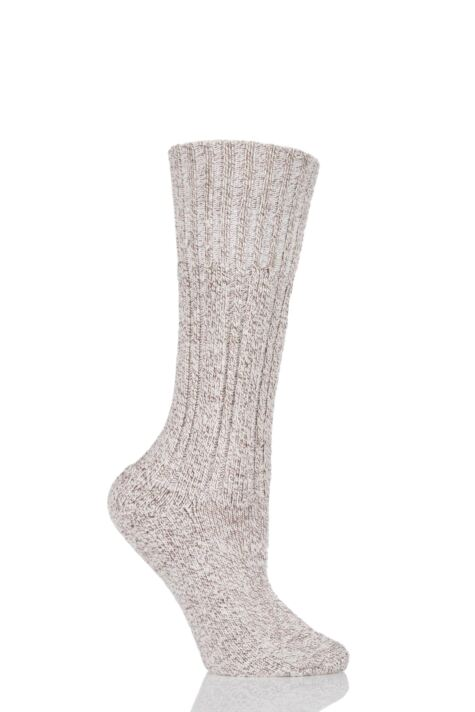 Ladies 1 Pair HJ Hall Classic Cotton Boot Socks Product Image