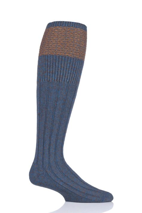 Mens 1 Pair HJ Hall UK Made Honeycomb Wool Shooting Knee High Socks Product Image