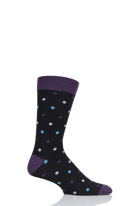 Mens 1 Pair HJ Hall Spots Bamboo Socks Product Image
