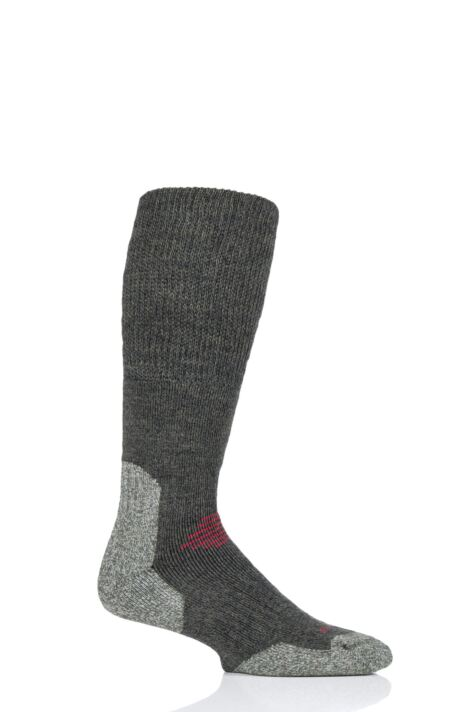 Mens and Ladies 1 Pair HJ Hall ProTrek Longer Length Cushioned Comfort Top Mountain Socks Product Image