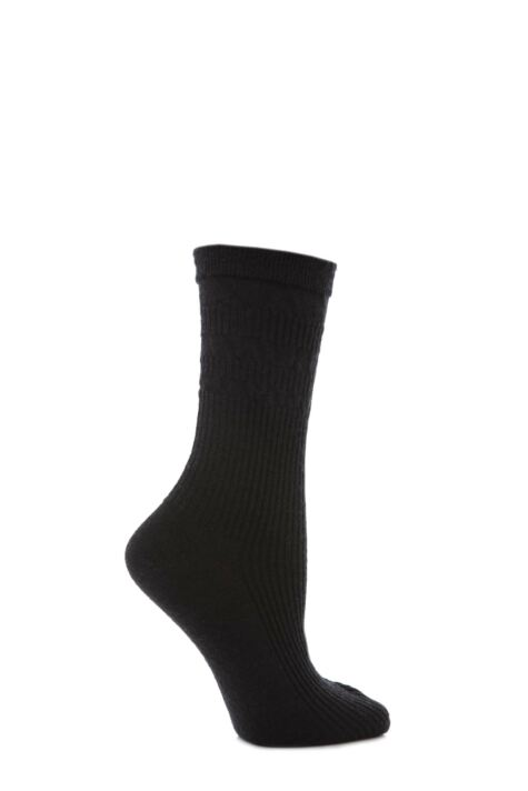 Ladies 1 Pair HJ Hall Original Wool Softop Socks Product Image
