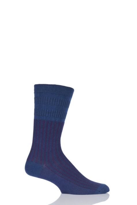Mens 1 Pair HJ Hall Jester Striped Softop Socks Product Image