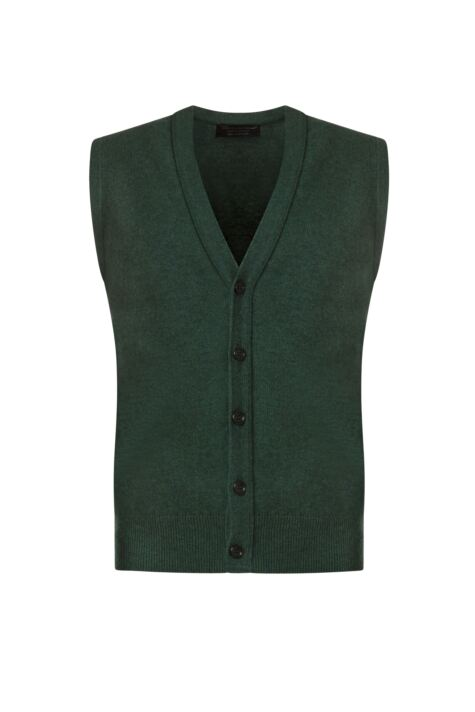 Mens Great & British Knitwear 100% Lambswool V Neck Waistcoat Product Image
