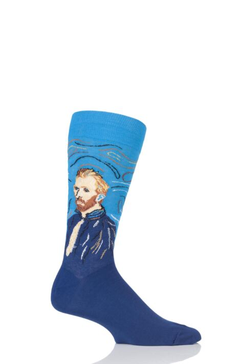 Mens 1 Pair HotSox Artist Collection Van Gogh Self Portrait Cotton Socks Product Image