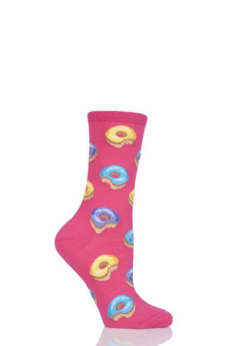 Ladies 1 Pair HotSox Donut Cotton Socks Product Image
