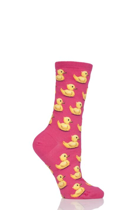 Ladies 1 Pair HotSox Rubber Ducks Cotton Socks Product Image