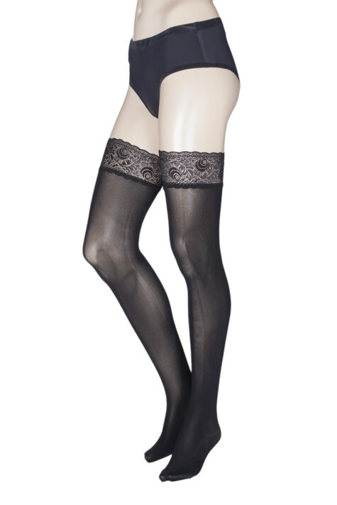Ladies 1 Pair Trasparenze Ilaria 50 Denier Seamless Hold Ups Product Image