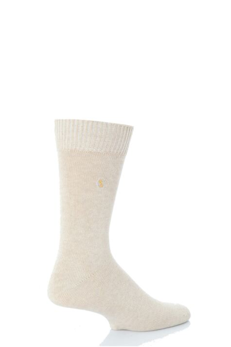 Mens 1 Pair SOCKSHOP Colour Burst Cotton Socks with Smooth Toe Seams Product Image