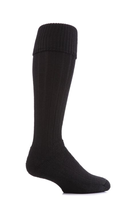 Mens 1 Pair J. Alex Swift Knee Length Wool Rib Walking Socks Product Image