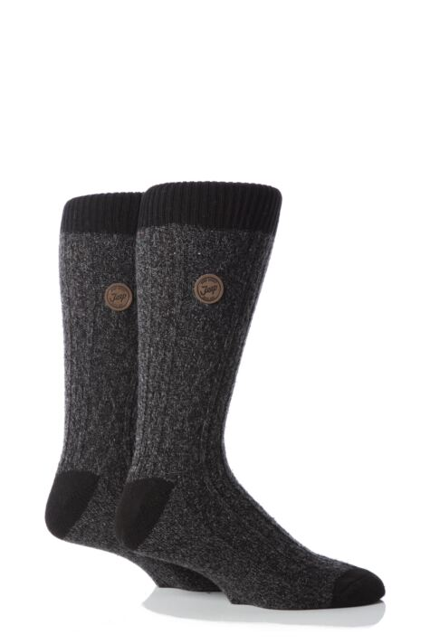 Mens 2 Pair Jeep Spirit Cable Socks Product Image