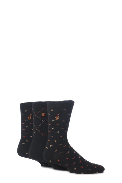 Mens 3 Pair Farah Golf Socks Product Image