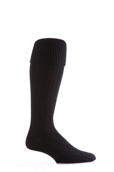 Mens 1 Pair Glenmuir Birkdale Golf Wool Knee High Socks with Turn Over Cuff Product Image