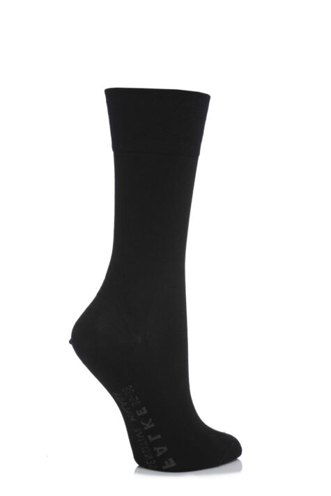 Ladies 1 Pair Falke Sensitive Malaga Left And Right Mercerised Cotton Socks Product Image