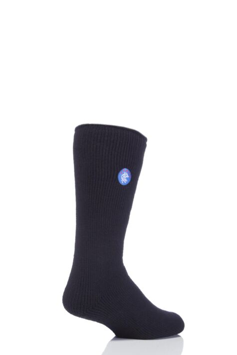 Mens 1 Pair SockShop Heat Holders Socks For Rangers Football Club Fans Product Image
