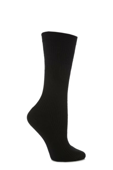 Ladies 1 Pair HJ Hall Original Cotton Softop Socks Product Image