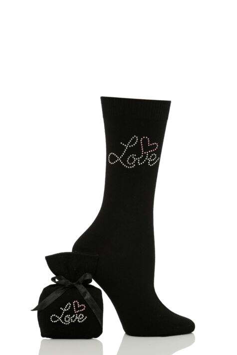 Ladies 1 Pair Elle Diamante Socks Product Image