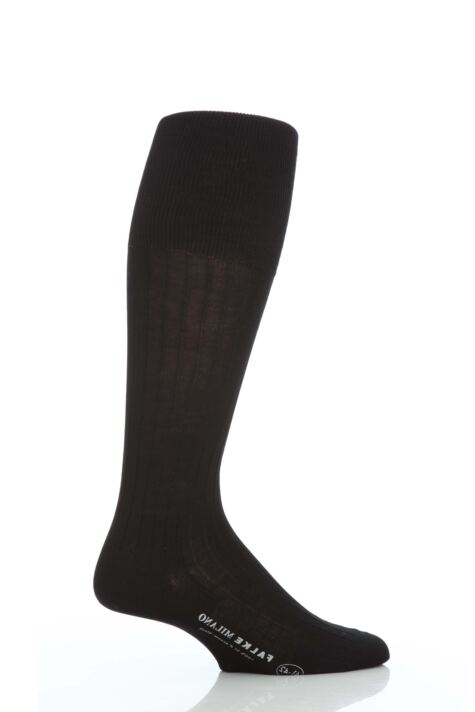 Mens 1 Pair Falke Milano 97% Cotton Knee High Socks Product Image