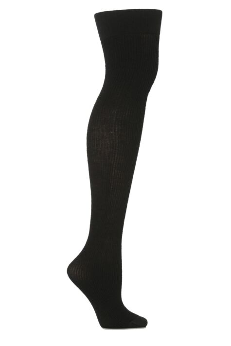 Ladies 1 Pair Trasparenze Dora Ribbed Wool Over The Knee Socks Product Image