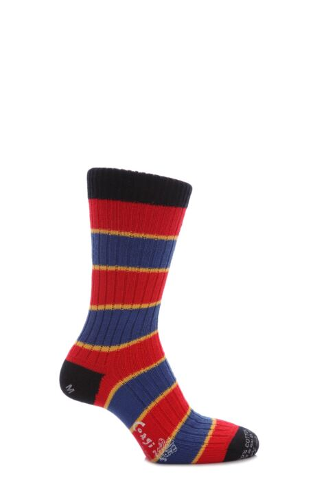 Mens 1 Pair Corgi 100% Cotton Triple Stripe Socks Product Image