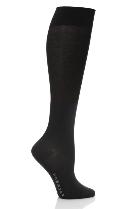 Ladies 1 Pair Falke Cotton Touch Knee High Socks Product Image