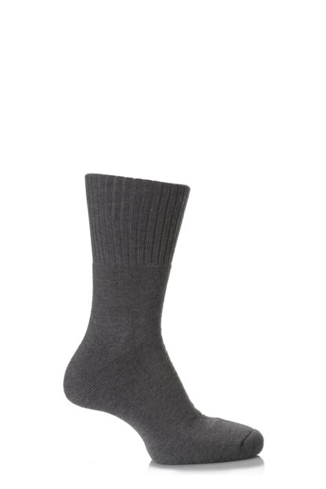 Mens and Ladies 1 Pair SockShop Comfort Cuff and Full Cushioned Cotton Socks Product Image