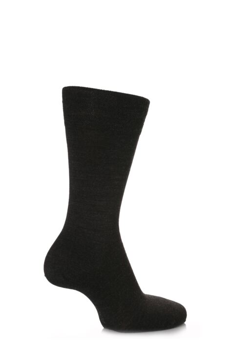 Mens 1 Pair Falke Sensitive Berlin Virgin Wool Left and Right Socks With Comfort Cuff Product Image