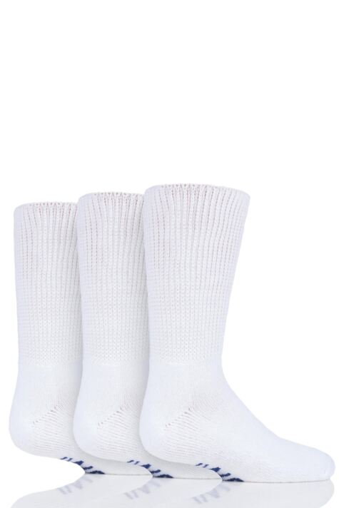 Boys and Girls 3 Pair Iomi Footnurse Cushioned Foot Diabetic Socks Product Image