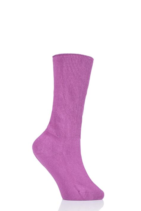 Ladies 1 Pair Iomi Footnurse Oedema Extra Wide Cotton Socks Product Image