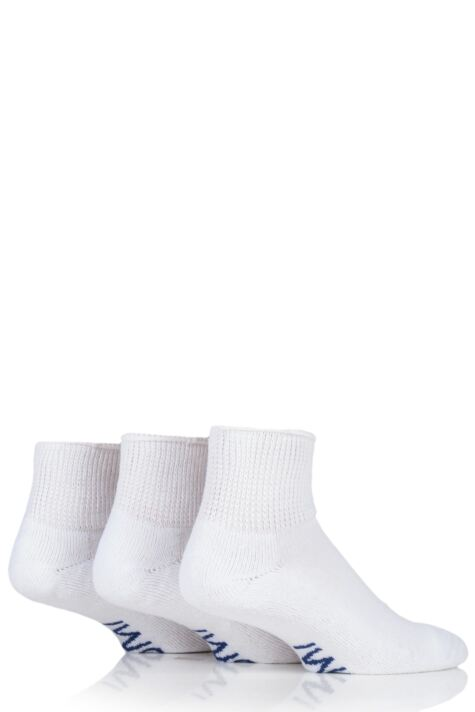 Mens 3 Pair SockShop Iomi Footnurse Gentle Grip Diabetic Ankle Socks Product Image