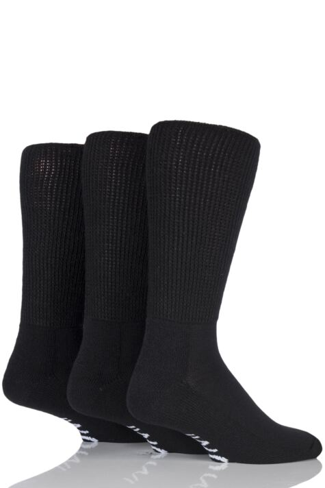 Mens 3 Pair Iomi Footnurse Gentle Grip Cushioned Foot Diabetic Socks Product Image