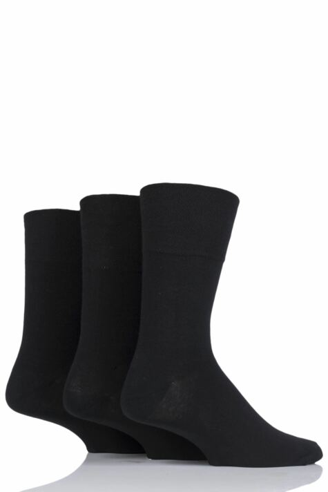 Mens 3 Pair Iomi Footnurse Gentle Grip Diabetic Socks Product Image