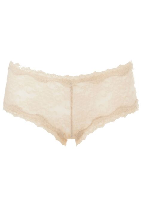 Ladies 1 Pair Kinky Knickers Ivory Handmade In The UK Scalloped Lace Trim Knickers Product Image