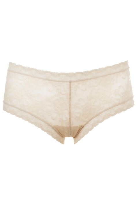 Ladies 1 Pair Kinky Knickers Ivory Handmade In The UK Straight Lace Trim Knickers Product Image