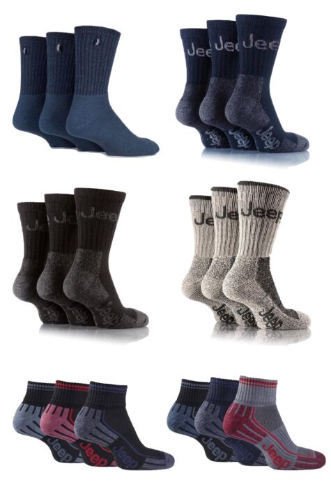 Mens 18 Pair Jeep Fresh Sock Drawer Collection Socks - Save £10 Product Image