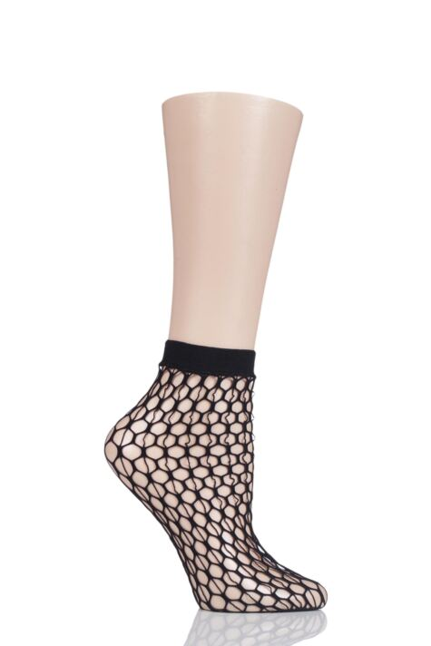 Ladies 1 Pair Jonathan Aston Echo Net Fishnet Socks Product Image