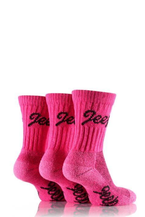 Ladies 3 Pair Jeep Luxury Terrain Socks Product Image