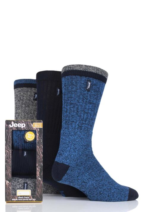 Mens 3 Pair Jeep Terrain Leisure Socks Gift Box Product Image