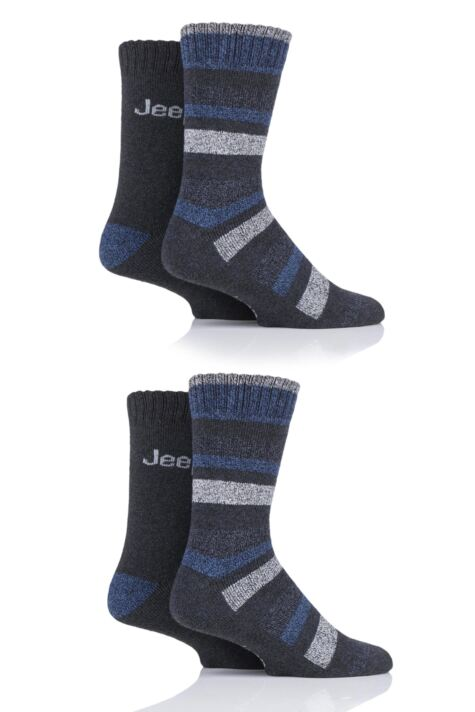 Mens 4 Pair Jeep Performance Boot Socks Product Image