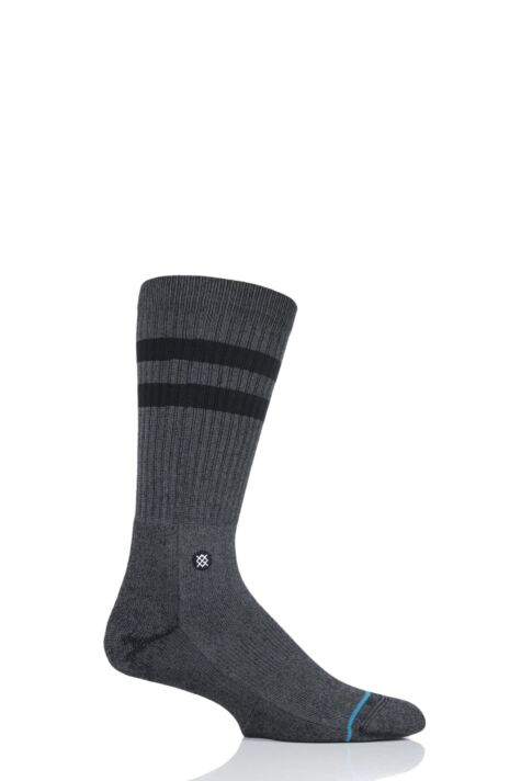 Mens 1 Pair Stance Joven Striped Top Plain Cotton Socks Product Image