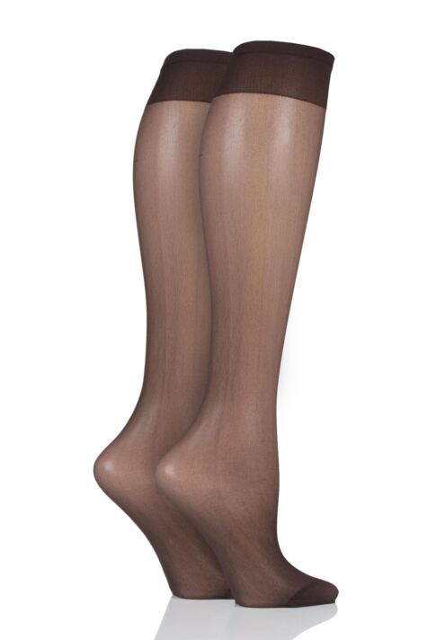 Ladies 1 Pair Pendeza 15 Denier Tone 10, 20, 30, 40 and 50 Knee Highs For Darker Skin Tones Product Image