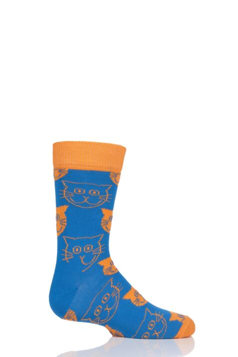 Boys & Girls 1 Pair Happy Socks Cats Cotton Socks Product Image