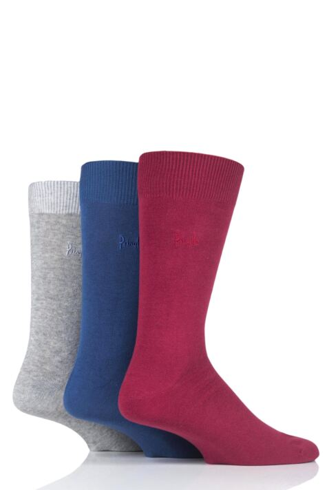 Mens 3 Pair Pringle Endrick Plain Trouser Socks Product Image