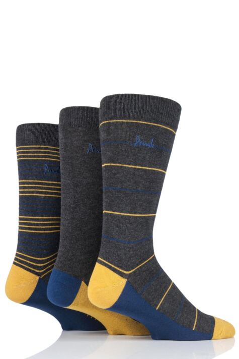 Mens 3 Pair Pringle Connor Striped Bamboo Socks Product Image
