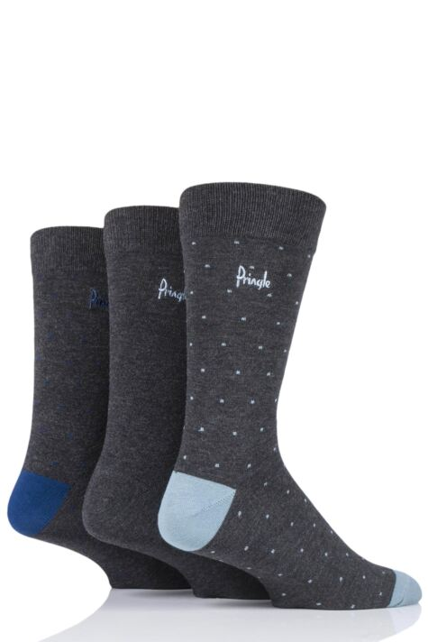 Mens 3 Pair Pringle Will Dots Bamboo Socks Product Image