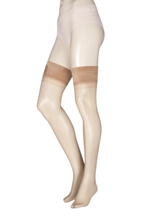 Ladies 1 Pair Charnos 15 Denier Sheer Lustre Hold Ups Product Image