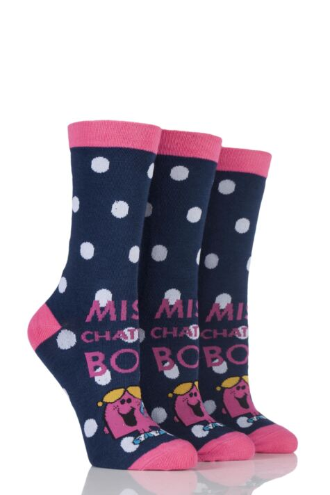 Ladies 3 Pair TM Little Miss Character Socks Product Image