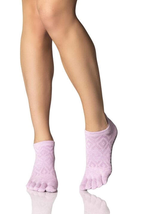 Ladies 1 Pair ToeSox Low Rise Full Toe Diamond Socks Product Image