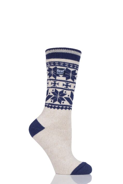 Ladies 1 Pair Heat Holders 1.6 TOG Patterned and Striped Socks Product Image