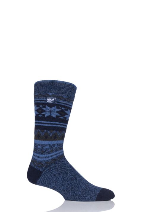 Mens 1 Pair Heat Holders 1.6 TOG Lite Fairisle Socks Product Image