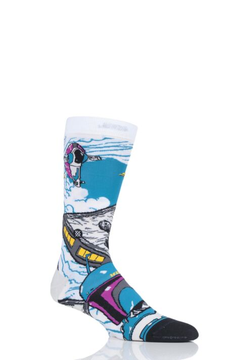 Mens 1 Pair Stance Star Wars Warped Boba Cotton Blend Socks Product Image